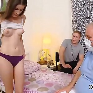 Man assists with hymen examination and screwing of virgin nympho