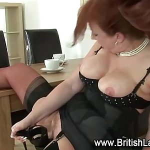 Fetish solo mature brit in stockings