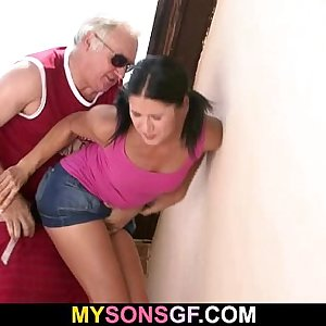 GF lets her BFs dad poke her wet pink