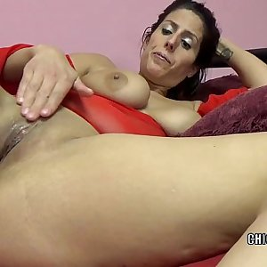 Horny MILF Lavender Rayne is playing with her taut twat