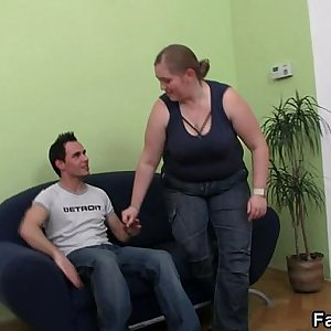 Fatty picks up stud for lovemaking