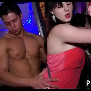 Yong girls fucked hard after dance and swallowed  tons of ball batter