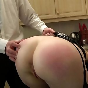 Assfucked british sub gulps maledom spunk