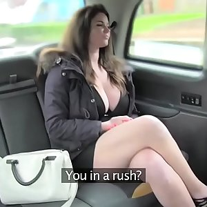 Fake Taxi big tits and sexy eyes takes hard-on