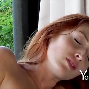 Yonitale Study: Only proven orgasms. Beautiful masturbation by gorgeous redhead Crimson Fox