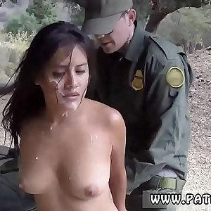 Latina border patrol anal They gave pursue in their truck, and when