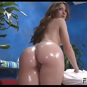 Gorgeous playgirl gets a hard fuck after a sensual massage