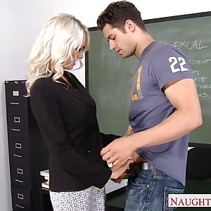Hook-up teacher Emma Starr take cock in classroom