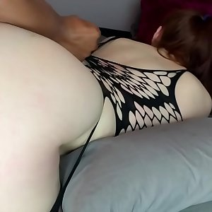 Vibrant Redhead roped and demolished by Big black cock • Amateur JayJadeMoon