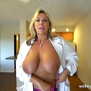 Chesty Sex Dr Finger Banged Before Her Cum Facial cumshot