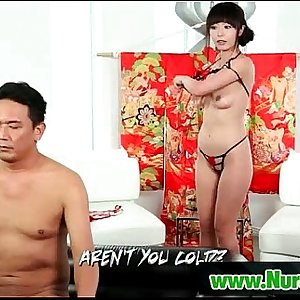 Big tit masseuse gives pleasure to horny client 17
